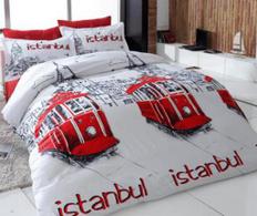 Lenjerie dubla Silverline Istanbul Red
