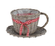 Ghiveci Wooden Cup Grey 1