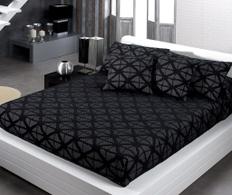 Cuvertura Thais Geometric Negro 180x270cm