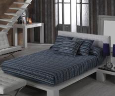 Set de pat Inca Azur 250x270cm