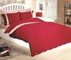 Posteljina Double Premium Satinata Claret Red Buttons