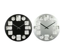 Set de 2 ceasuri de perete Pictures Black&Silver