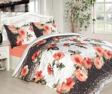 Lenjerie de pat pentru 2 persoane Anya Orange