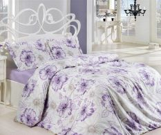 Lenjerie de pat pentru 2 persoane Natural Lilac