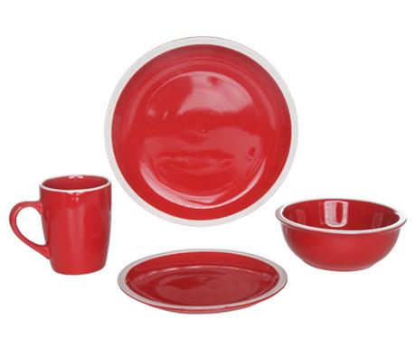 Set de masa 16 piese Inca Red