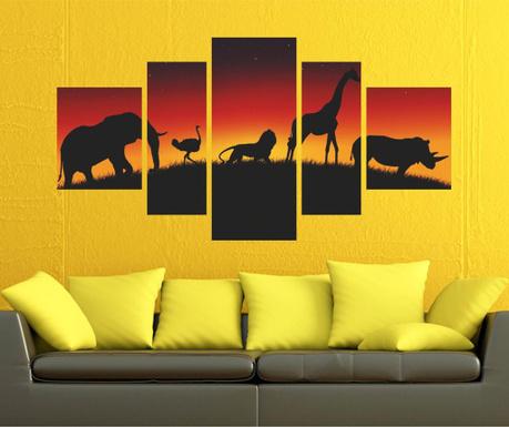 Set 5 tablouri Wild Life