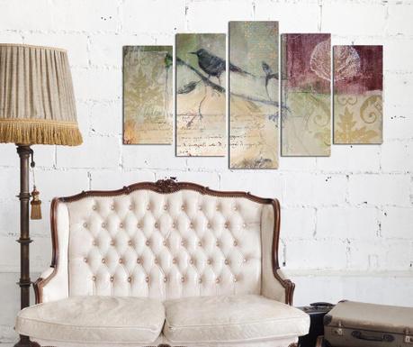 Set 5 tablouri Bird
