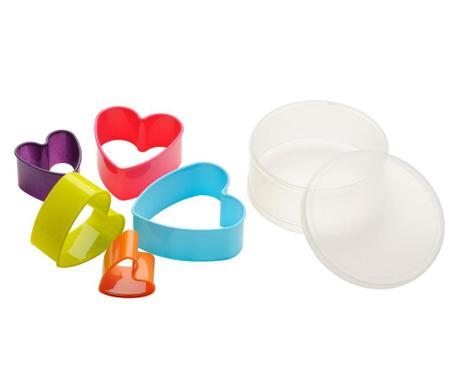 Комплект 5 форми за рязане на тесто Heart