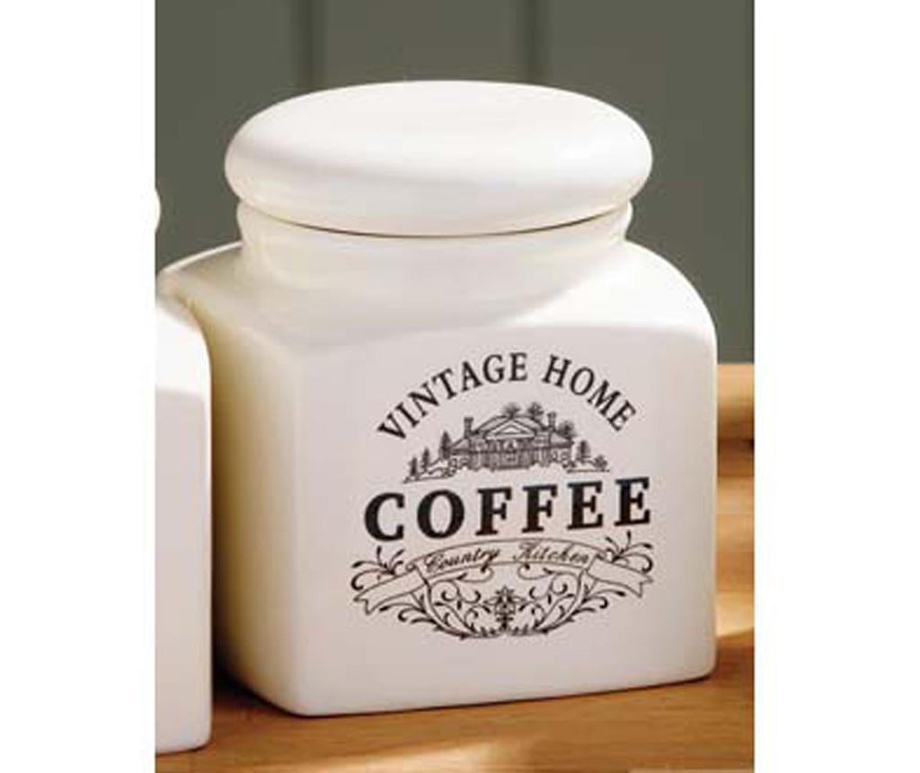 Съд с капак за кафе Vintage Home Cream S
