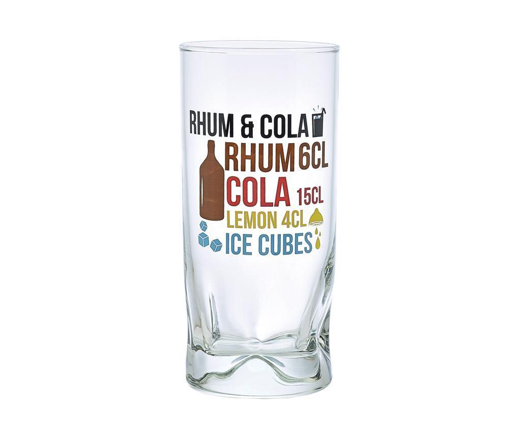 Set 6 kozarcev Duke Rhum Cola 270 ml