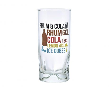 Set 6 kozarcev Duke Rhum Cola 270 ml