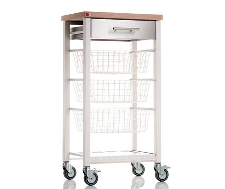 Kuchyňský vozík Onda White Elm