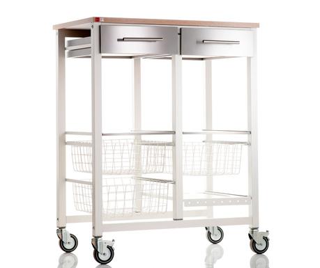 Kuchyňský vozík Onda Double White Elm