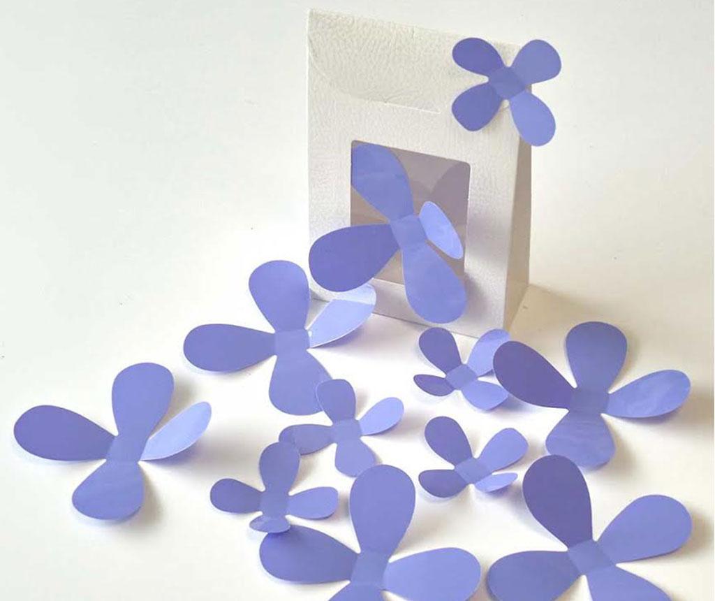 Set 12 stickere 3D Flowers Lavander