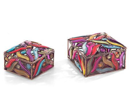Zestaw 2 pudełek z pokrywką Droplets