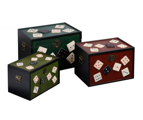 Set of 3 chests Retro Dice