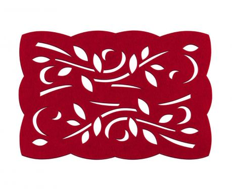 Set of 2 placemats Red Leaf