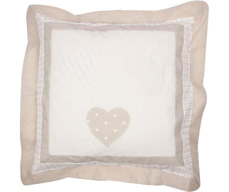 One Heart Patch Beige Párnahuzat 50x50 cm