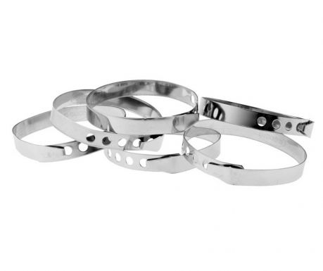 Set of 6 adjustable rings Silver