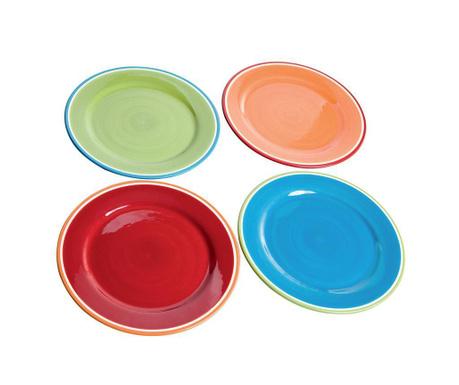 Sada 4 mělkých talířů Colori
