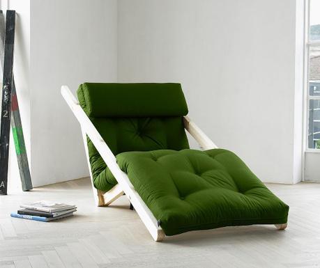 Ležaljka na razvlačenje za dnevni boravak Figo Raw & Lime 70x200 cm