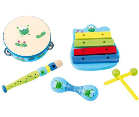 Set 5 instrumente muzicale Frog