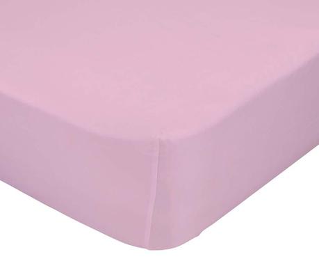 Cearsaf de patut cu elastic Basic Pink