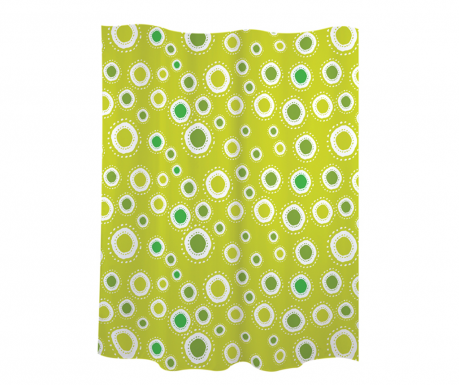 Zavjesa za tuš Little Spots Green 180x200 cm