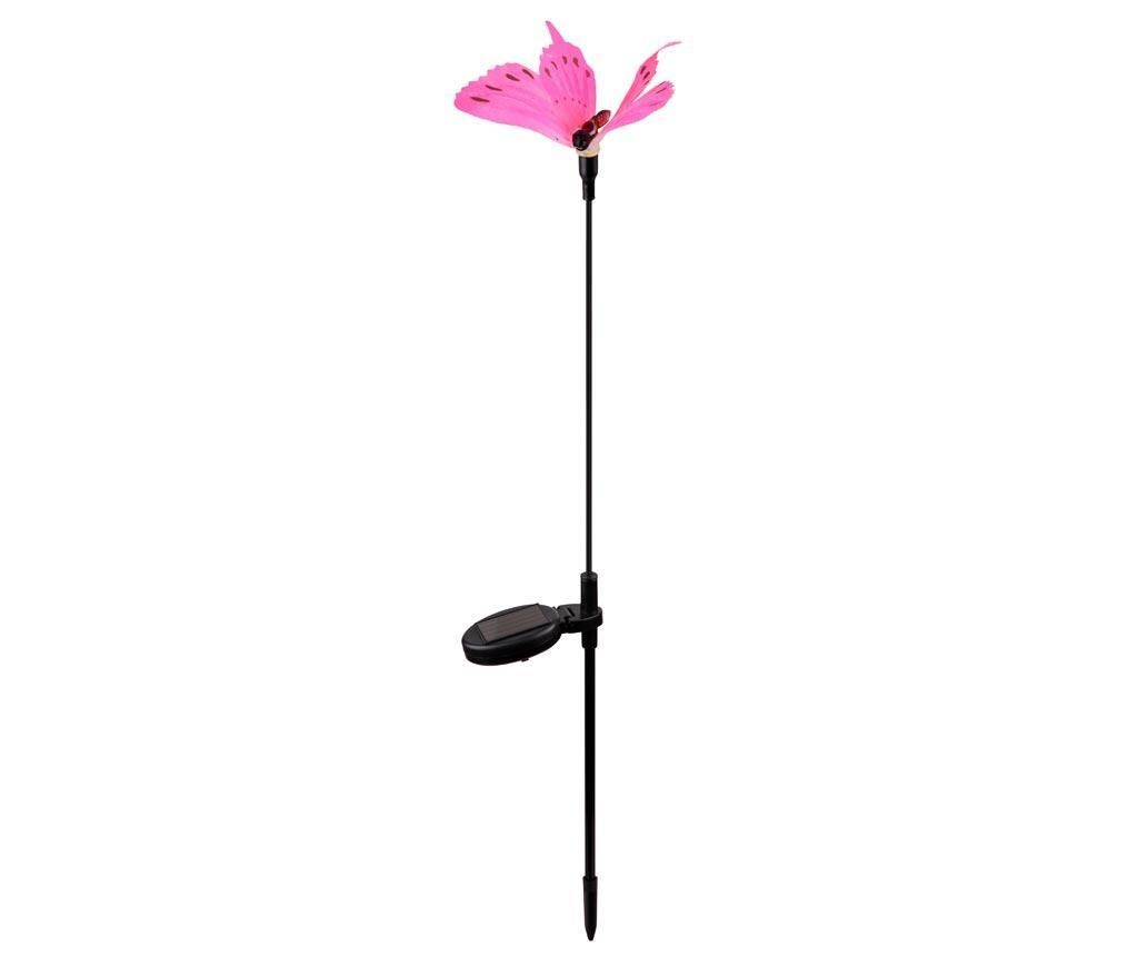 Solární lampa Pretty Pink Butterfly