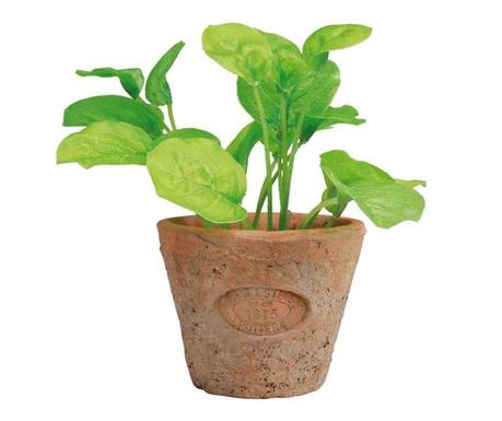 Umjetna biljka u posudi Basil