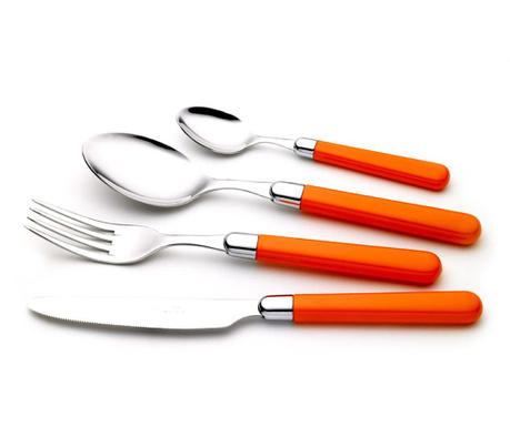 Комплект прибори за хранене 24 части Pastello  Orange