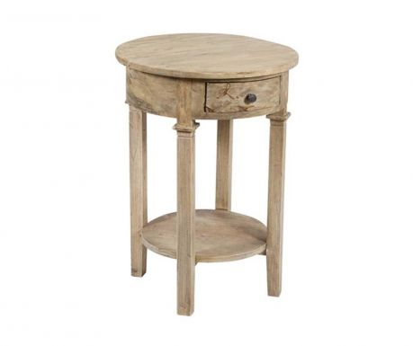 Stolić  s 1 ladicom Vintage Round