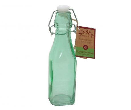Bottle with airtight stopper Kilner Clip Square Green 250 ml