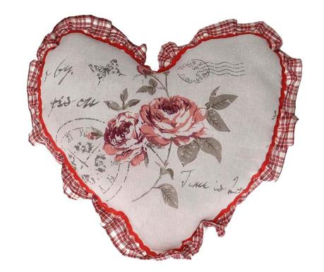 Soft Roses Heart Díszpárna 38x38 cm