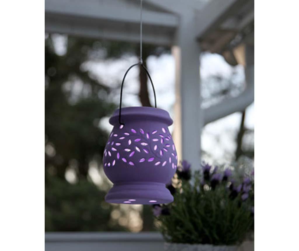 Solární lucerna Leaf Lilac