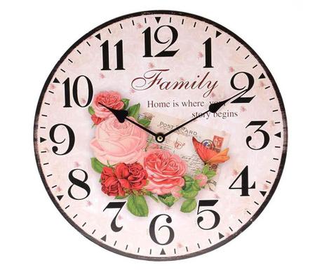 Zegar ścienny Family Postcard