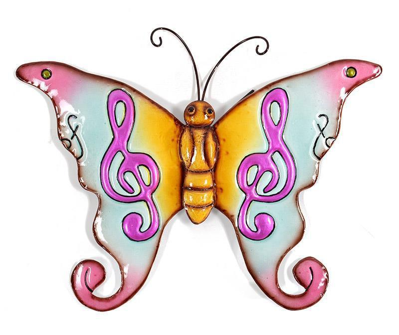 Stenska dekoracija Happy Butterfly