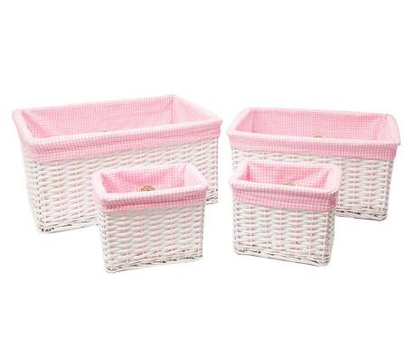 Set 4 cosuri Vichy Pink