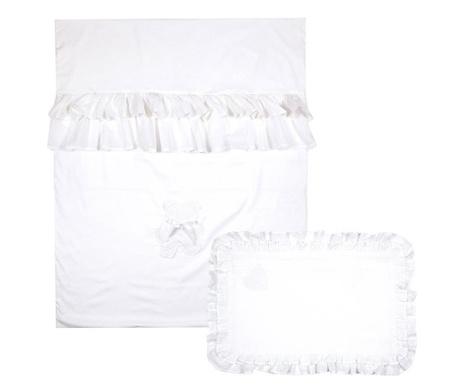 Set cuvertura matlasata pentru patut Sweet Dreams White