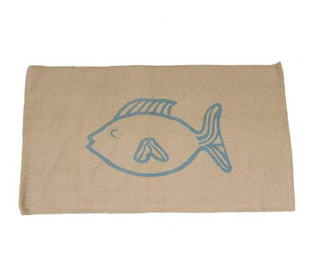 Χαλάκι Fish Blue 60x90cm