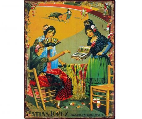Nástěnná dekorace Matias Lopez 25x33cm