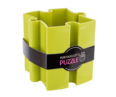 Stojan na propisky Puzzle Green