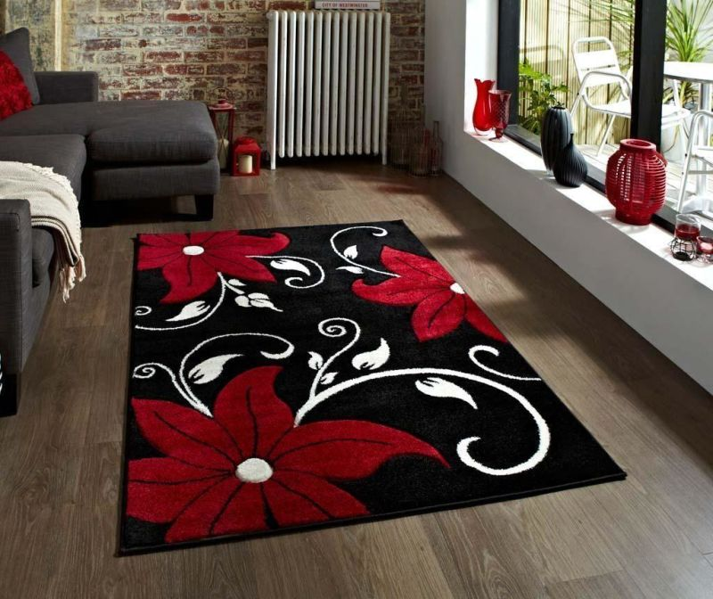 Tepih Verona Black and Red 120x170 cm