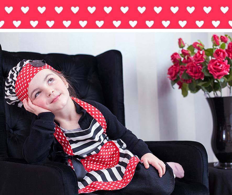 Zestaw fartuch kuchenny i czapka kucharska dla dzieci Lulu Retro