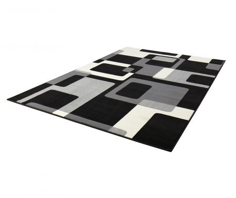 Tepih Retro Black & Cream 160x230 cm