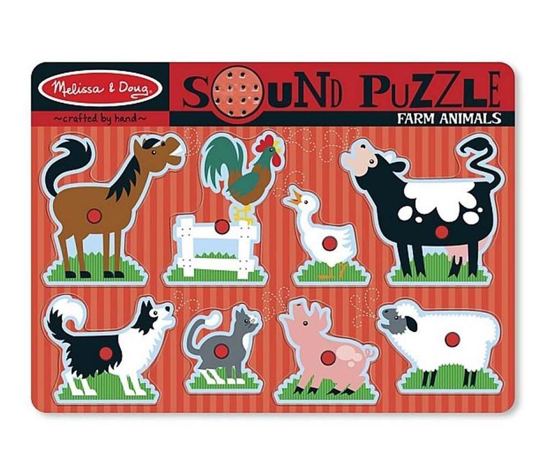Joc tip puzzle 9 piese Fun Farm Animals