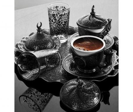 Сервиз за кафе 11 части Baysan Smoked