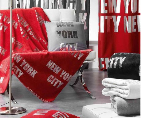 New York Silver Red Pléd 127x152cm - Vivre.hu 24c3cbc04d