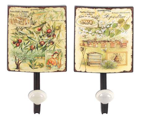 Sada 2 vešiakov Olives & Apiculture