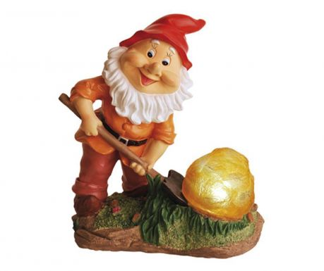 Gnome with Rock Napelemes lámpa